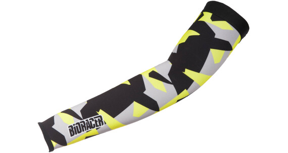 Bioracer Subli Armwarmers fluo yellow-bar